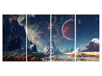 Tablou cu peisaj montan cu planete (K012168K16080)