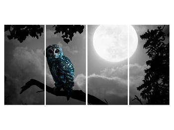 Tablou cu bufnița nocturnă (K012185K16080)