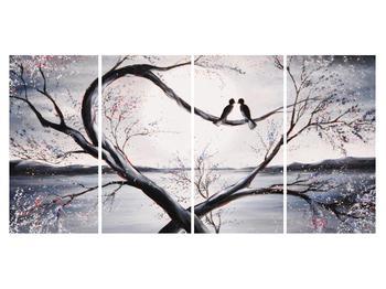 Tablou cu păsări îndrăgostite (K012516K16080)