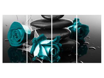 Tablou cu trandafiri albastre (K012553K16080)