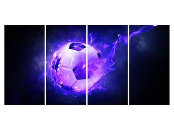 Tablou cu mingea de footbal în plasă (K014164K16080)