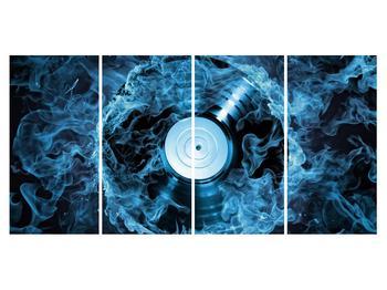 Tablou cu placă de gramofon în foc albastru (K014442K16080)