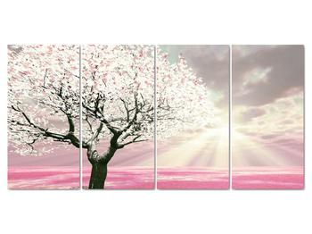 Růžový obraz stromu (V020058V16080)