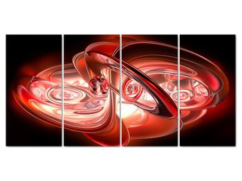 Obraz - červené tvary (V020064V16080)