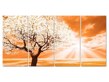 Oranžový obraz stromu (V020095V16080)