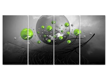 Obraz zelených abstraktných gulí (V020103V16080)