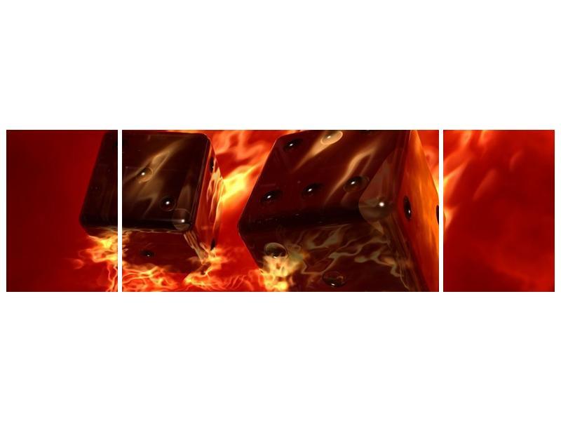 Moderní obraz hořících herních kostek (F004319F17050)