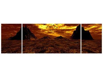 Obraz vyprahlého údolí (F000287F17050)