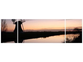 Obraz rybníku u mlýna (F001556F17050)