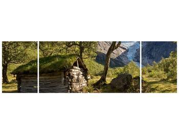 Obraz horské chatrče (F001636F17050)