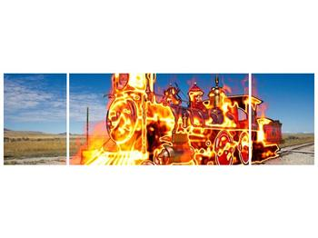 Obraz ohnivé lokomotivy (F001696F17050)