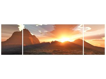 Obraz západu slunce nad horama (F001700F17050)