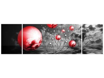 Moderní obraz - červené koule (F002086F17050)