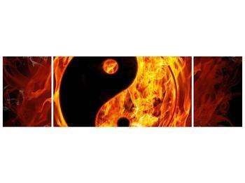 Obraz hořícího jin jang (F002309F17050)