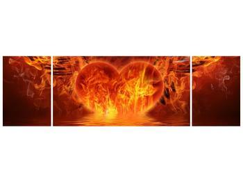 Obraz hořícího srdce s křídly  (F002884F17050)
