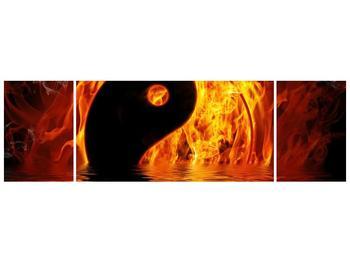 Obraz hořícího Jin Jangu  (F002885F17050)