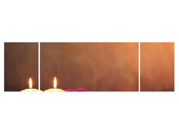Tablou relaxant cu lumănâri și orhidee (K011120K17050)