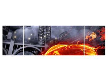 Tablou cu mașina arzând (K011167K17050)