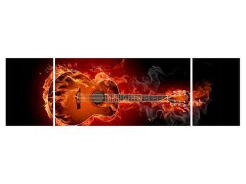 Lángoló gitár képe (K011168K17050)