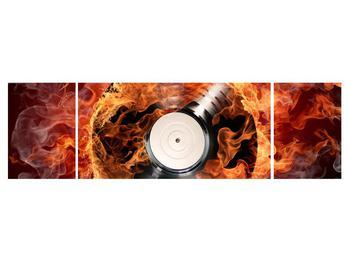 Tablou cu placă de gramofon în foc (K011171K17050)