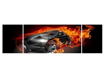 Tablou cu mașina arzând (K011174K17050)