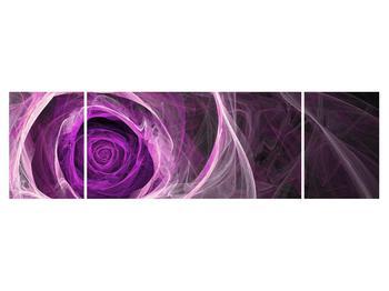 Moderný obraz fialovej ruže (K011482K17050)