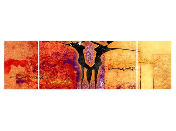 Tablou abstract cu doi dansatori (K011975K17050)