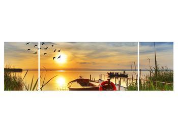 Obraz loďky na jezeře (K012049K17050)