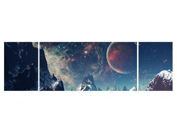 Tablou cu peisaj montan cu planete (K012168K17050)
