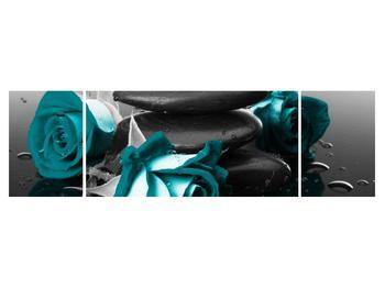 Tablou cu trandafiri albastre (K012553K17050)
