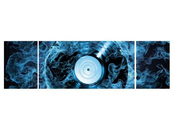 Tablou cu placă de gramofon în foc albastru (K014442K17050)