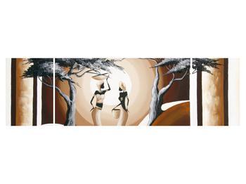Tablou oriental cu două femei și copac (K014682K17050)