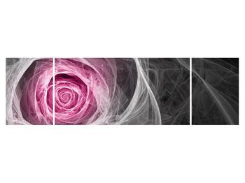 Abstraktní obraz růže (K014952K17050)