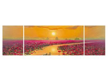 Tblou cu flori de lotus și rațe (K014993K17050)