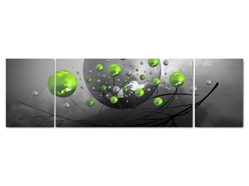 Obraz zelených abstraktných gulí (V020103V17050)