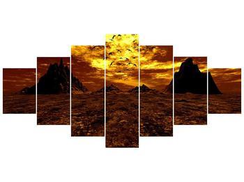 Obraz vyprahlého údolí (F000287F210100)