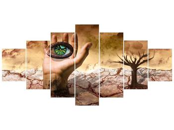 Obraz oka na dlaňi (F001485F210100)