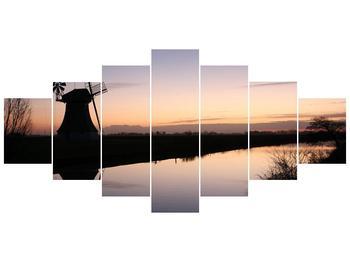 Obraz rybníku u mlýna (F001556F210100)
