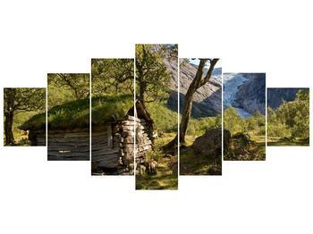 Obraz horské chatrče (F001636F210100)