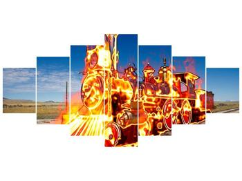 Obraz ohnivé lokomotivy (F001696F210100)