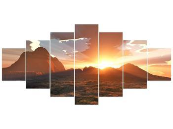 Obraz západu slunce nad horama (F001700F210100)