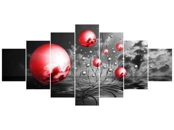 Moderní obraz - červené koule (F002086F210100)
