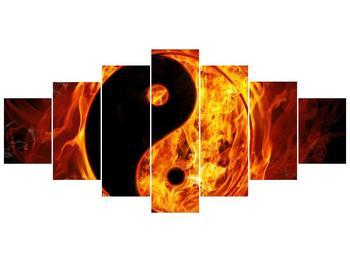 Obraz hořícího jin jang (F002309F210100)