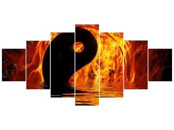 Obraz hořícího Jin Jangu  (F002885F210100)