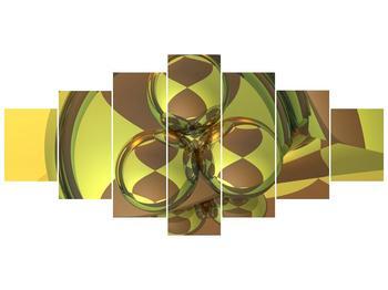 Moderní šedozelený obraz (F004076F210100)