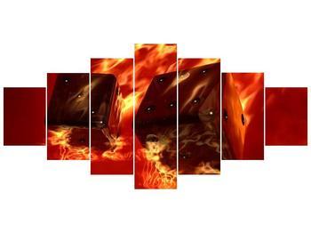 Moderní obraz hořících herních kostek (F004319F210100)