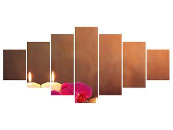 Tablou relaxant cu lumănâri și orhidee (K011120K210100)