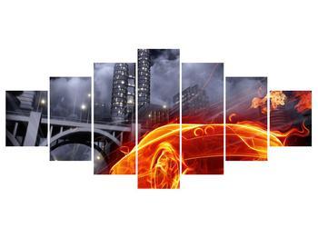 Tablou cu mașina arzând (K011167K210100)