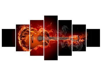 Lángoló gitár képe (K011168K210100)