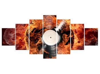 Tablou cu placă de gramofon în foc (K011171K210100)